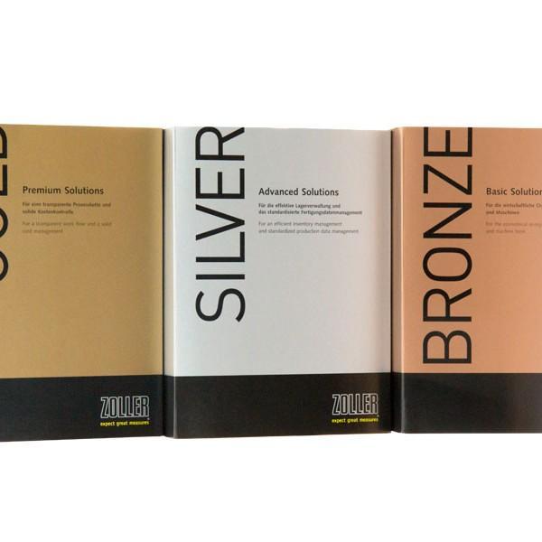 ZOLLER TMS trzy modułowe pakiety oprogramowania: BRONZE, SILVER i GOLD